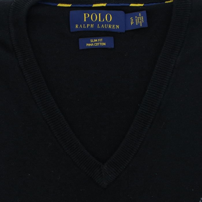 POLO RALPH LAUREN PULL ZWART SLIM FIT